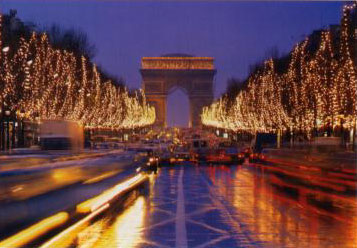 Eiffel Tower Christmas Lights